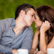 Couple very close to kissing each other — Stock Photo #29235197