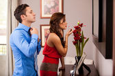 Getting ready for a date — Stockfoto