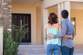 Couple looking at their new house — Stock Photo