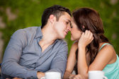 Couple very close to kissing each other — Stock Photo