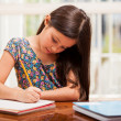 A little girl doing her homework — Stock Photo #32535333
