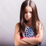 Angry little girl — Stock Photo #32535789