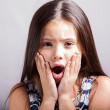 Surprise little girl  — Foto Stock