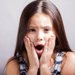 Surprise little girl  — Stock Photo