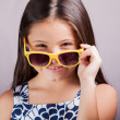 Girl with glasses — Stock Photo