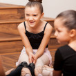 Girls in dance class — Stock Photo