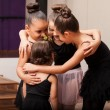 Little friends in dance class — Stock Photo