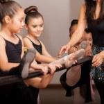 Little girls enjoying dance class — Stock Photo #33326689