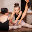 Stock Photo: Little girls in a ballet class