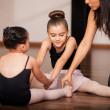 Little girls in a ballet class — Stock Photo