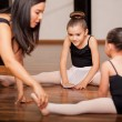 Dance students and teacher — Stock Photo