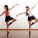 Ballerinas rehearsing — Stock Photo