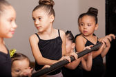 Ballet students paying attention — Stock Photo