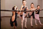 Happy ballet dancers — Stock Photo