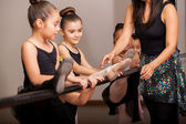 Little girls enjoying dance class — Stock Photo