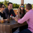 Having drinks and snacks at a bar — Stock Photo #34985615