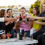 Friends having fun at a bar — Stock Photo #34986265