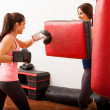 Girls engaged in boxing — Zdjęcie stockowe