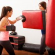 Stock Photo: Girls engaged in boxing