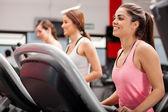 Athletes on the treadmill — Stock Photo