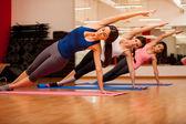 Girls gymnastics at the gym — Stock Photo