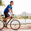 Working out on a bike — Stock Photo #39609955