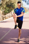 Warming up before a run — Stock Photo