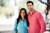 Happy Hispanic couple outdoors — Stock Photo