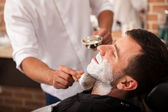Ready for a shave at the barber's — Stock Photo