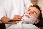 Getting a close shave — Stock Photo