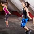 Workout with a jump rope — Stock Photo #46794659