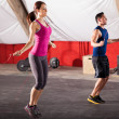 Exercising with a jump rope — Stock Photo #46794717