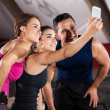 Selfie in a crossfit gym — Stock Photo #46795303