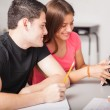 Teenagers using technology — Stock Photo #48453149