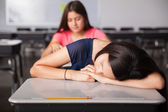 Falling asleep during class — Stock Photo