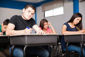 Taking an admission test — Stock Photo