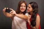 Best friends taking a selfie — Stock Photo