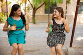 Friends hanging out at a park — Stock Photo