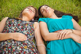Teenage friends napping — Stock Photo