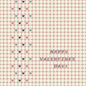 Valentine's card — Stock Vector