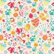 Seamless abstract floral pattern — ストックベクター #19552633