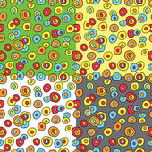 落書き cicrles とのシームレスなパターン — ストックベクタ
