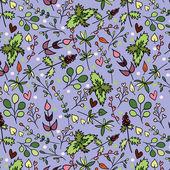 Um padrão sem emenda com ervas diferentes. — Vetorial Stock