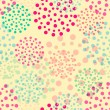 Vector circles abstract seamless pattern background — Imagen vectorial
