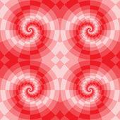 Blocos de espiral vermelho — Vetor de Stock