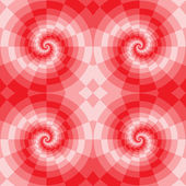 Spiral pattern red blocks — Stock Vector