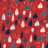 Seamless pattern with leaves — Vecteur