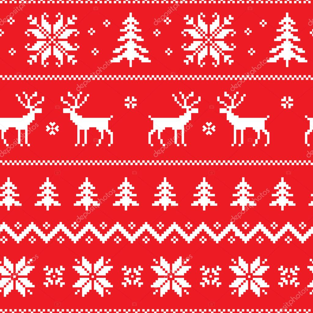 Seamless pattern with classical sweater design — Stock ...