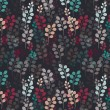 Seamless pattern with branches on dark background. — Imagens vectoriais em stock