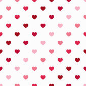 Vector seamless geometric pattern with small polka dot hearts — Stock Vector
